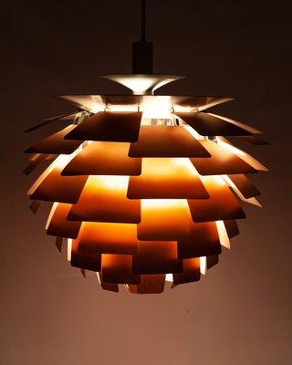 Copper PH Artichoke Pendant Lamp by Poul Henningsen for Louis Poulsen, 1960s