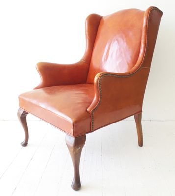 Vintage American Leather Armchair From Hickory Chair Co 1950s 1
