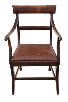 OLD ENGLAND SEATING FURNITURE CLASSICAL MAHOGANY DESK CHAIR SCHREIBTISCH STUHL