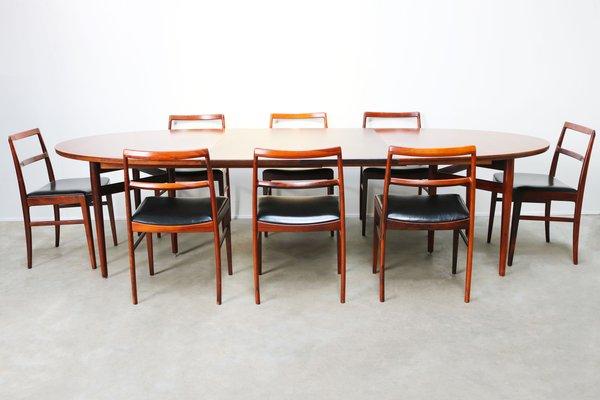 Danish Dining Room Set By Arne Vodder For Sibast 1950s 1