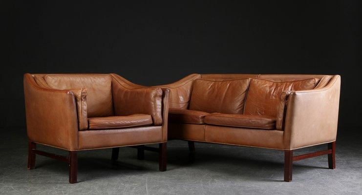 Danish Sofa Armchair Set From Grandt Mobelfabrik 1960s For Sale