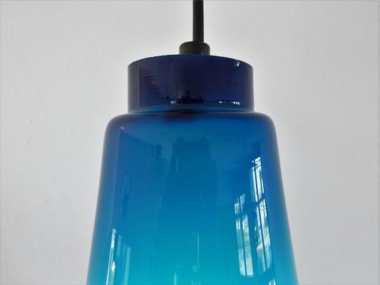 Jakobsson SveraSuède1960s Pour Verre Hans Lampe À Agne Suspension Par En Bleu UMqSzGVp