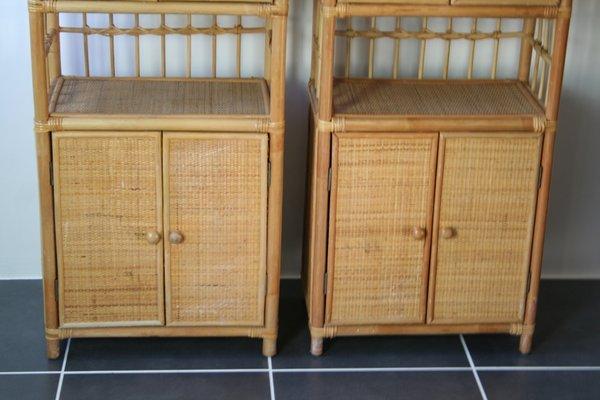 Vintage Rattan Cabinet, 1970s 11