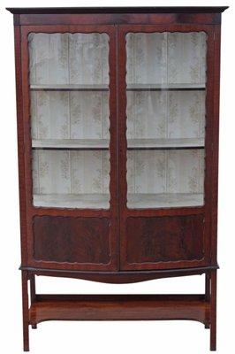 Large Antique Edwardian Mahogany Bow