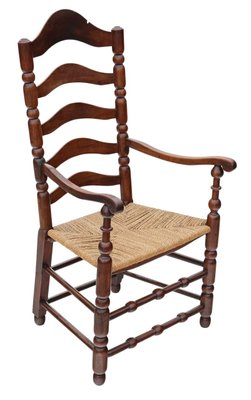 Sensational Antique Georgian Fruitwood High Back Elbow Desk Chair Machost Co Dining Chair Design Ideas Machostcouk