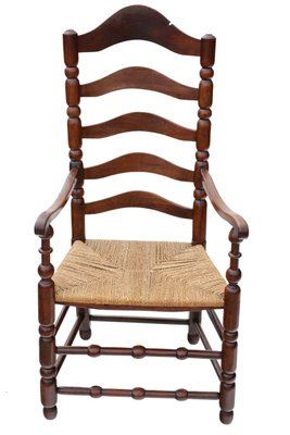 Outstanding Antique Georgian Fruitwood High Back Elbow Desk Chair Machost Co Dining Chair Design Ideas Machostcouk