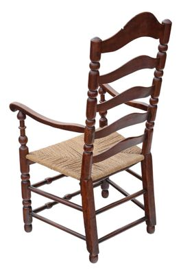Superb Antique Georgian Fruitwood High Back Elbow Desk Chair Machost Co Dining Chair Design Ideas Machostcouk