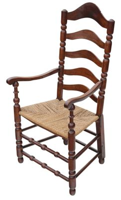 Admirable Antique Georgian Fruitwood High Back Elbow Desk Chair Machost Co Dining Chair Design Ideas Machostcouk