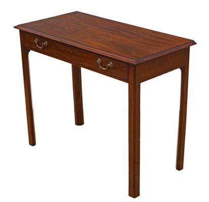 Antique Mahogany And Oak Side Table