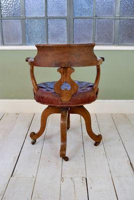 Fabulous Captains Desk Swivel Chair 1950S Machost Co Dining Chair Design Ideas Machostcouk