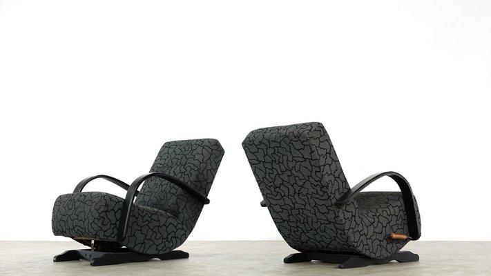 Awesome Art Deco Rocking Chairs 1930S Set Of 2 Customarchery Wood Chair Design Ideas Customarcherynet