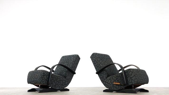 Terrific Art Deco Rocking Chairs 1930S Set Of 2 Customarchery Wood Chair Design Ideas Customarcherynet