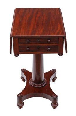 Antique Drop Leaf Side Table For