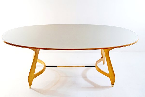 Mid Century Oval Dining Table By Gio Ponti 10