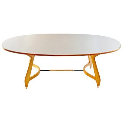 Mid Century Oval Dining Table By Gio Ponti