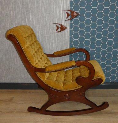 Remarkable Mustard Yellow Rocking Chair 1960S Beatyapartments Chair Design Images Beatyapartmentscom