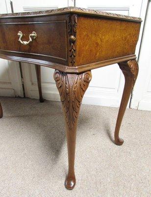 Queen Anne Style Burr Walnut Side Table