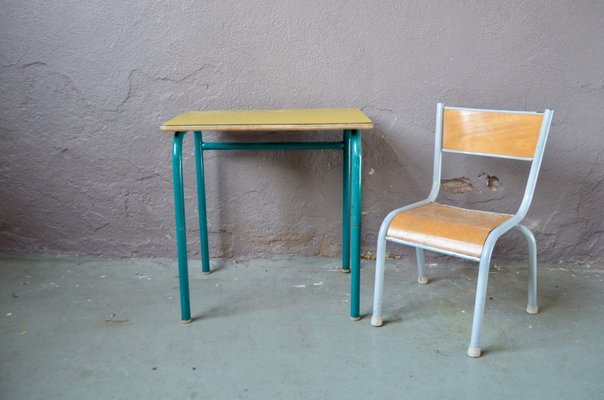 Outstanding Vintage Yellow Childrens Desk Chair Gmtry Best Dining Table And Chair Ideas Images Gmtryco