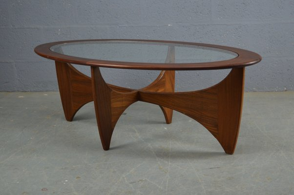 Mid Century Oval Teak Astro Coffee Table By Victor Wilkins For G