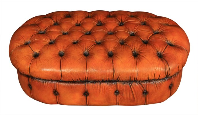 Vendita Pouf.Pouf Chesterfield Vintage In Pelle