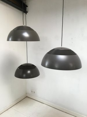 Large AJ Royal Ceiling Lamps by Arne Jacobsen for Louis Poulsen, 1960s, Set of 3