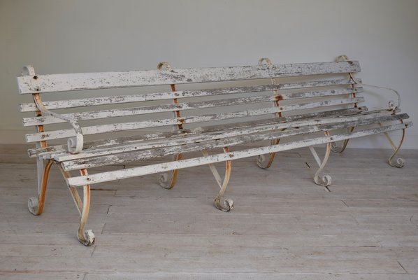 Excellent Antique Wrought Iron Garden Bench From Dover Port Caraccident5 Cool Chair Designs And Ideas Caraccident5Info