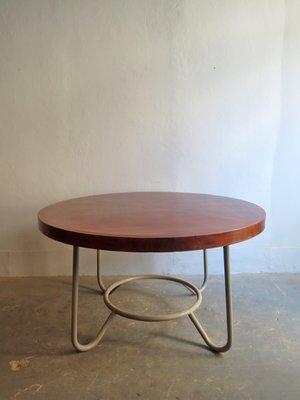 Runder Tisch Metall.Großer Runder Tisch Aus Holz Metall