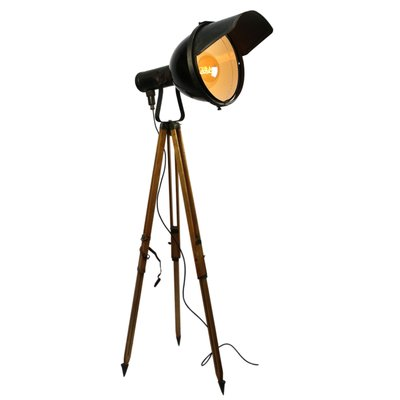 Black Enamel Tripod Spot Light