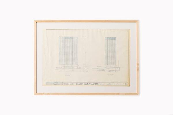 Mies Van Der Rohe Design Philosophy.One Charles Center Elevations Blue Print By Ludwig Mies Van Der