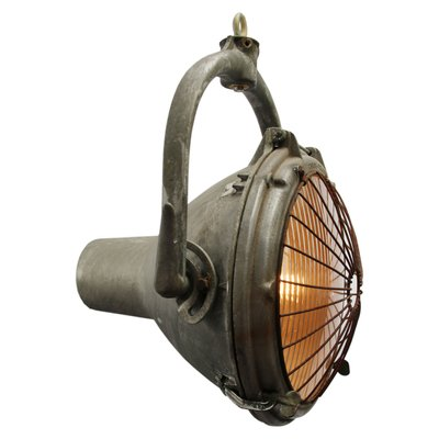 Vintage American Cast Aluminum Hanging Spot Light From Crouse Hinds