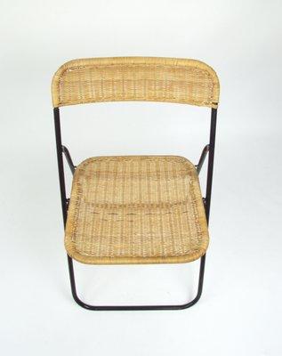 Silla Vintage De Plegable MimbreAños 70 hsxQtCBrdo