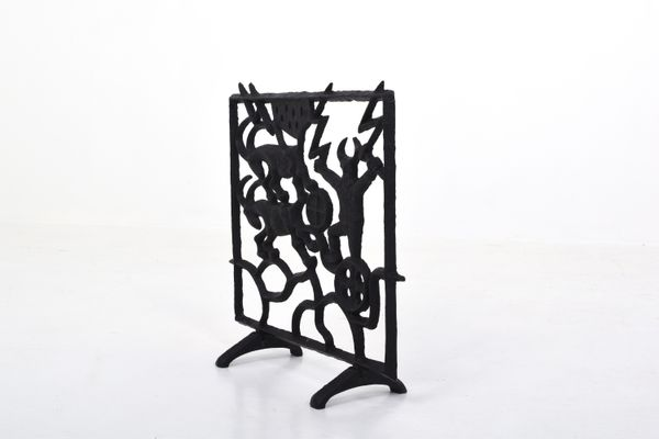 Mid Century Swedish Fireplace Screen By Olle Hermansson For