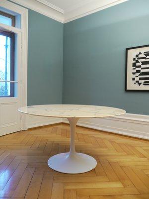 Vintage Marble Tulip Table By Eero Saarinen For Knoll International, 1970s