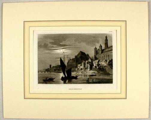 19th Century Marienburg Lithograph from Alexander Duncker