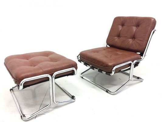 Surprising Vintage Lounge Chair Ottoman 1970S Beatyapartments Chair Design Images Beatyapartmentscom