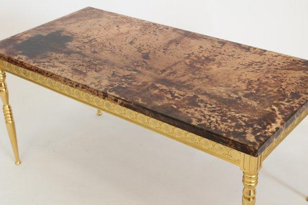 Tavolino In Pelle.Tavolino In Pelle Di Capra Di Aldo Tura Anni 70