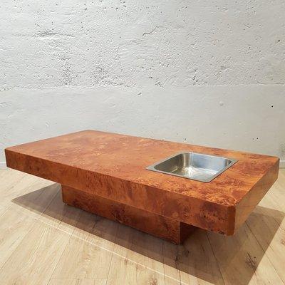 Loupe D'orme De Roche Table En Vintage Bobois1970s Basse OXnPk80w