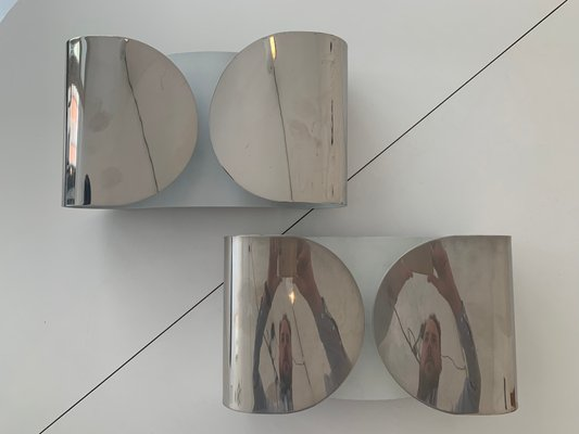 Lampade da parete foglio di afra e tobia scarpa per flos set di 2