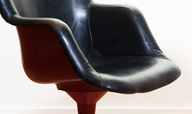 Astonishing Junior Red Black Leather Swivel Chairs By Yrjo Kukkapuro For Haimi 1960S Set Of 2 Beatyapartments Chair Design Images Beatyapartmentscom
