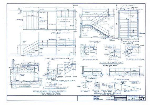 Mies Van Der Rohe Design Philosophy.Crown Hall Blueprint By Mies Van Der Rohe 1954 For Sale At Pamono