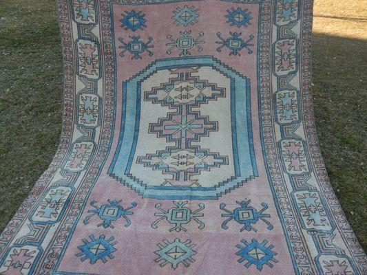Large Vintage Pale Oushak Rug for sale
