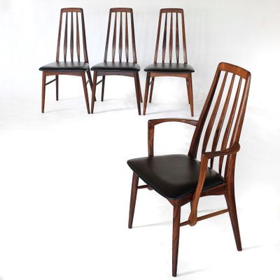 Awesome Rosewood Eva Dining Chairs By Niels Koefoed 1960S Set Of 4 Creativecarmelina Interior Chair Design Creativecarmelinacom