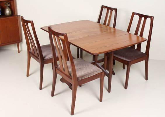 Vintage Teak Dining Table Set From Nathan G Plan 1970s For Sale At Pamono