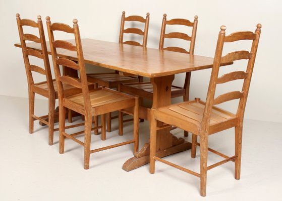 Terrific Vintage Pine Dining Table Set From Ercol Interior Design Ideas Jittwwsoteloinfo