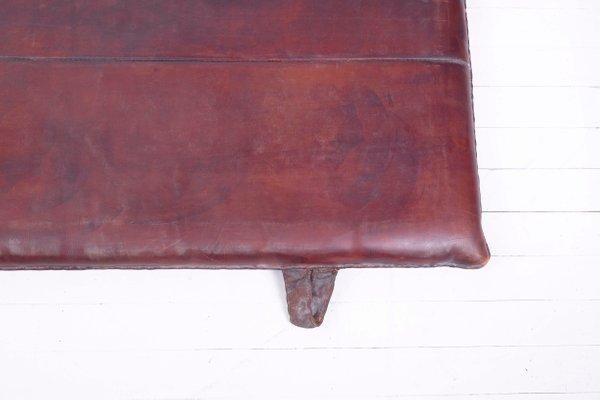 7ef14e2d6366ad Tappetino da palestra vintage in pelle, anni '60 in vendita su Pamono