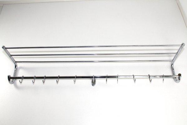 buy popular 6dd1d 8f583 Große Bauhaus Kleider- & Hutablage aus verchromtem Messing, 1940er