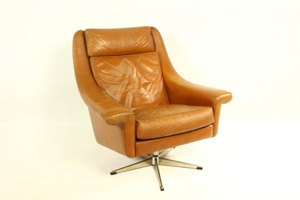 Astounding Matador Leather Swivel Chair Ottoman By Aage Christiansen For Erhardsen Andersen 1960S Pabps2019 Chair Design Images Pabps2019Com