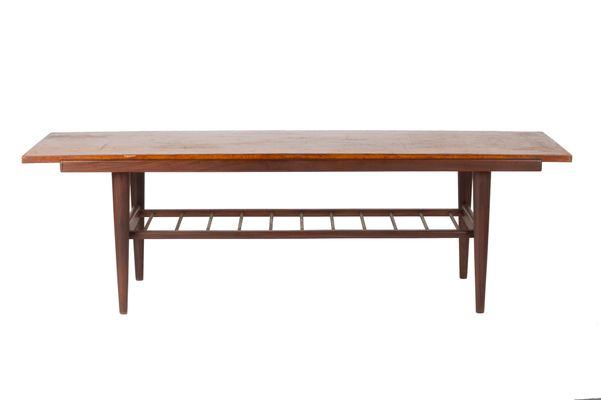 Vintage Coffee Table With Turning Top