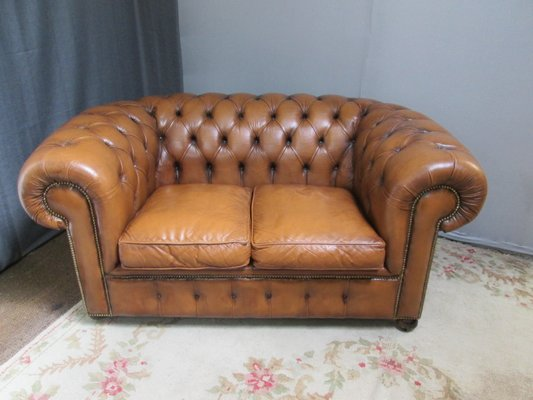 Vintage Chesterfield Leather Sofa For