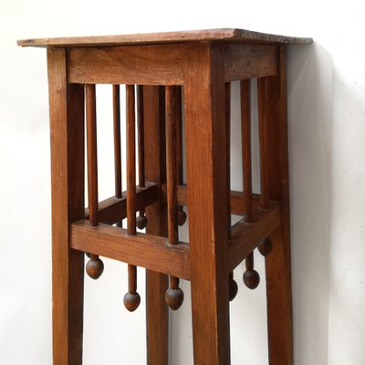 Antique Arts Crafts Wooden Plant Stands Set Of 2 For Sale At Pamono